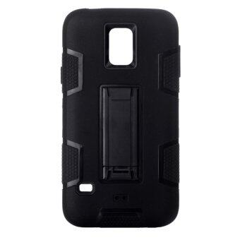 Harga 3 in 1 Armoured Heavy Type Phone Case for Samsung S5/i9600(Black) - intl
