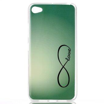 Harga Simple Symbol Soft TPU Siliconr Gel Back Rear Case Cover for Lenovo S90 Sisley (Green)