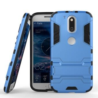 Harga Plastic + TPU Armor Protective Holder Stand Case for Motorola Moto G4/G4 Plus (Blue)