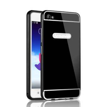 Harga RUILEAN Luxury Metal Aluminum Bumper Frame and Acrylic PC Hard Back Panel Case for Lenovo Sisley S90 S90U S90T (Black)