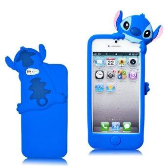 Harga niceEshop 3D Stitch Hide and Seek Silicone Case for Apple iPhone 5 5S (Blue) (INTL)