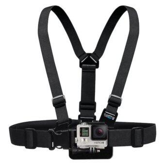 Harga Gopro accessories Adjustable Elastic Body Harness Chest Strap Mount Band Belt for Go Pro Hero 4 3+ SJCAM action Camera