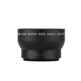 Harga niceEshop 37mm 0.45x Fisheye Wide Angle Macro Lens for Canon Nikon Sony Pentax (Black)