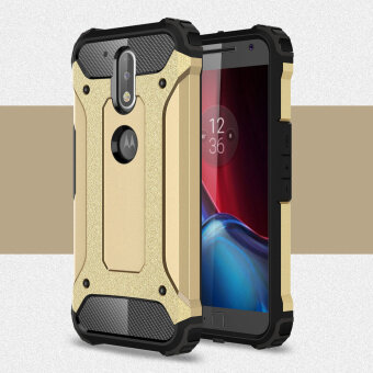 Harga Armor PC TPU Back Cover for Motorola Moto G4/G4 Plus - Gold - intl