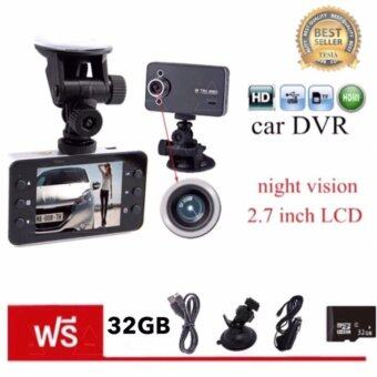 "Harga tesia Car Camera กล้องติดรถยนต์ ในรถ K6000 Dvr Car DVR Night Vision Car Camera Recorder 2.7"" HD TFT Screen camrecorder"