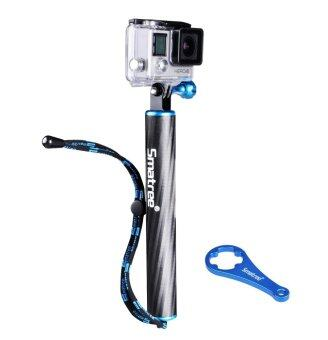 Harga Smatree SmaPole F1 Floating Hand Grip / Pole / Bobber (Aluminum & Carbon-fibre Materials) integrated with aluminium alloy Tripod Mount and Nut+Thumb screw for GoPro Hero 4, 3+, 3, 2, 1 and SJ4000, SJ5000 Cameras and Comcorders (Blue)