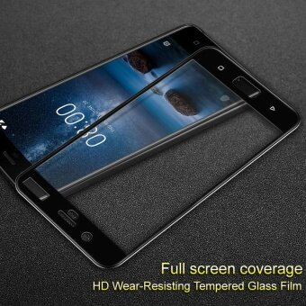 IMAK HD Full Coverage Tempered Glass Screen Protector for Nokia 8 -Black - intl