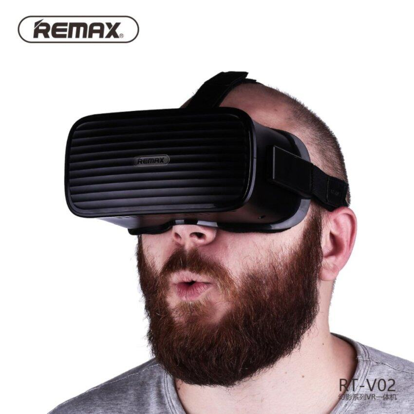 (Import) Remax RT-02 All in One VR Box Virtual Reality 3D Glasses VR Headset Game Movie 1280P 5 inch OLED Display Screen HDMI USB for PC Notebook - intl