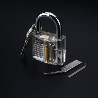Inside View Practice Visible Padlock Locksmith Lock Pick TrainingTools Set Kit - intl