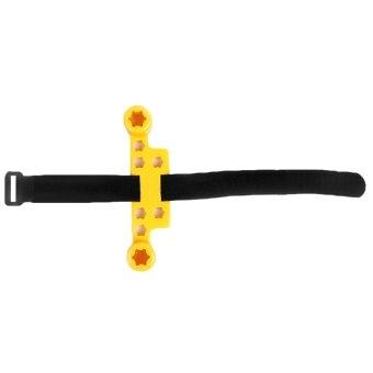 อยากขาย Integrated Transporting Anti-Shake Remote Controller TransmitterProtector Stick Thumb Joysticks Screen Guard Protector with HookAnd Loop Tape for DJI SPARK Yellow - intl