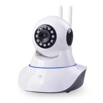 IP Camera P2P V380 Cam IP Camera Full HD กล้องวงจรปิดไร้สาย version 2 สองเสาอากาศ(white)