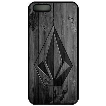 Iphone 5S Case Iphone 5 Case Volcom Case For Iphone 5S/Iphone 5 PcBlack Snap On Hard Case New DIY - intl