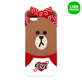 IPHONE 6/6S PLUS SILICONE CASE_CHOCO_RED BANDANA