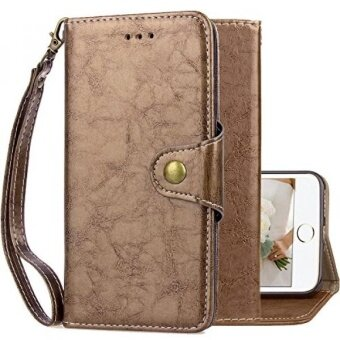 iPhone 7 Plus Wallet Case for WomeniPhone 7 Plus Holster CaseKudex Folio Flip Leather Durable Slim Classic Design Pouch Clutch Cover Purse with Card Holder Magnetic Closure  Wristlet (Gold) - intl