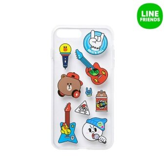 IPHONE7 PLUS JELLY CASE_MUSIC FRIENDS_BEAT BROWN