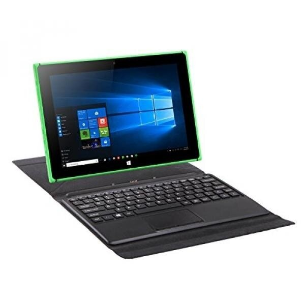iRULU 2-in-1 Tablet Windows aptop 10.1 inch Walknbook , with Detachable Keyboard, 2+32GB, Workstation & Entertainment, Green