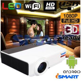 ISMART หลอด LED 3D FULL HD Smart Projector WXGA Android Wifi รุ่นVRD808 - (Black)