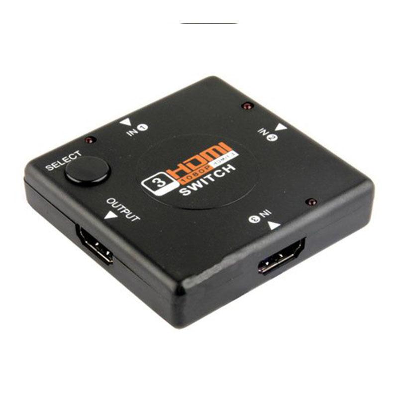 Jetting Buy ตัวสลับกล่องแยกพอร์ต HDMI 3 อินพุตอัตโนมัติ
