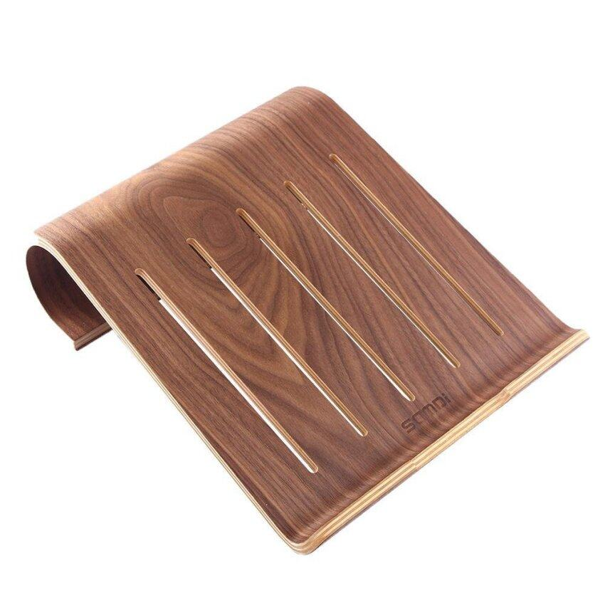 jiage Wooden Laptop Stand Holder For Macbook Air Macbook Pro IPad Pro Surface Pro Other Laptop Notebook (Walnut ) - intl