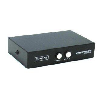 Kids VGA SWITCH 2X1 ( 2 PORT ) (BLACK)