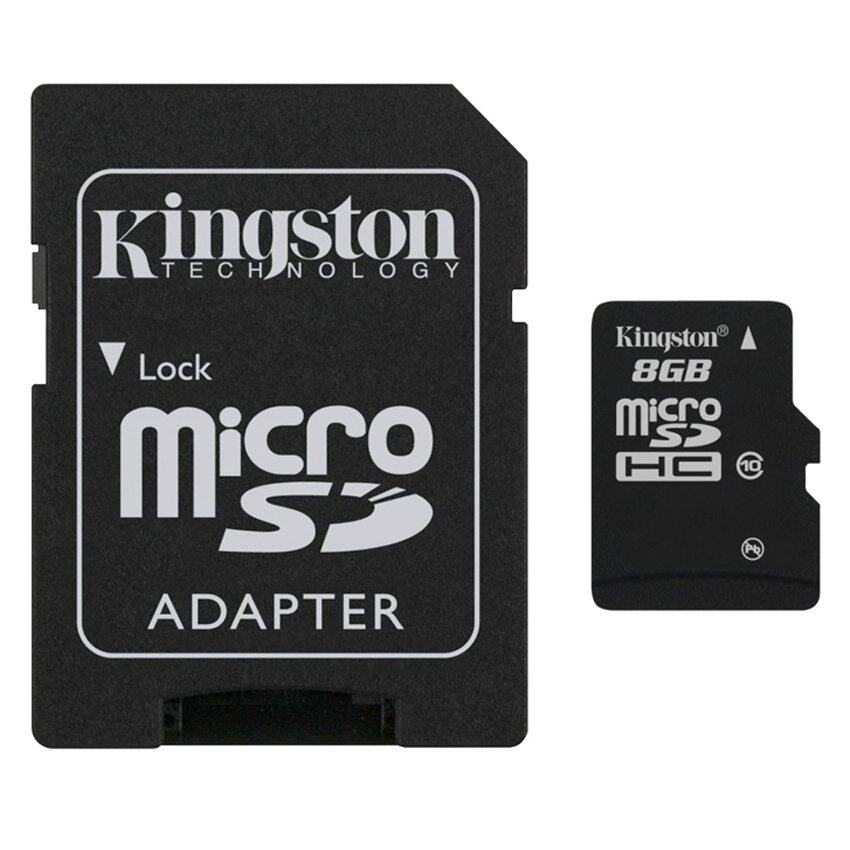 Kingston Memory Micro SD Card Class 10 8GB with Adapter