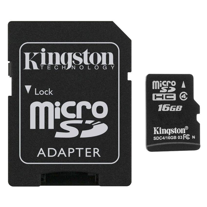 Kingston Micro SD Card Class 4 (16GB) with Adapter
