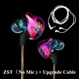 KZ ZST Coloful Version ZST Pro Earphone Hybrid Headset forXiaomi/LG/iPhone Mobiles Hifi Earbuds 1DD+1BA Headphone NoMicrophone - intl