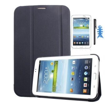Leather Case Cover For Samsung Galaxy Tab 3 7.0 T210 T211+Film+Stylus SP - intl