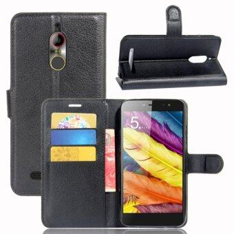 Leather Flip Cover Protective Case For ZTE Nubia N1 Lite (Black) -intl