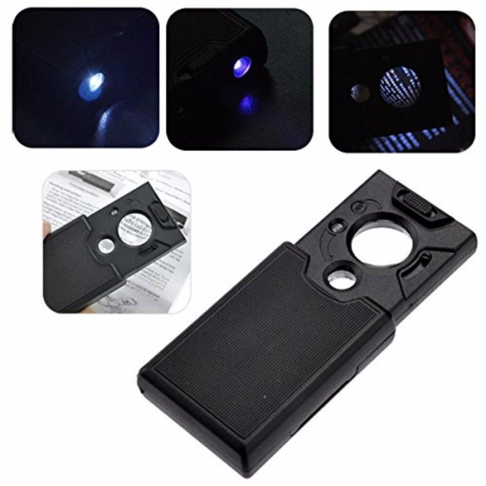 แว่นส่องพระ/ธนบัตร แบบพกพา พร้อมไฟตรวจสอบธนบัตร ไฟLed กำลังขยายปรับได้ 30x และแบบปรับได้,45x 60x ดึงเข้าออกเก็บง่าย