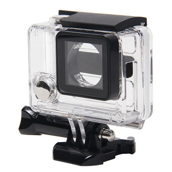 Leegoal Clear View Skeleton Protective Housing Case with Lens forGopro 3+/ 4 with Open Side (Transparent) - Intl (Intl)