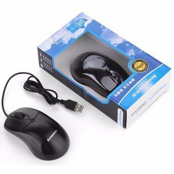 ประเทศไทย Lenovo Optical Mouse USB LX-02(Black)