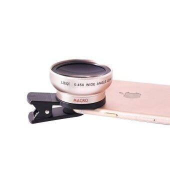 LIEQI LQ-027 2 in 1 เลนส์ครอบกล้องมือถือ super Wide Angle Lens 10XMacro Lens Camera Lens for iPhone iPad Samsung S6 S7 S7 edgeSmartphone