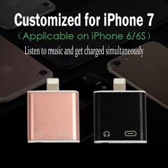 Lighning To 3.5mm Headphone Jack adapter+Lightning Chargingแจ็คสำหรับเชื่อมต่อหูฟังไอโฟนเจ็ดอแดปเตอร์สำหรับเชื่อมต่อหูฟังไอโฟนเจ็ดJack Adapter foriPhone7/iphone7Plus