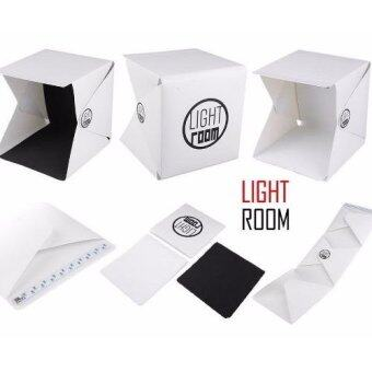 Light Room Mini photo studio กล่องถ่ายภาพ สตูดิโอขนาดเล็กพับเก็บได้ 24cm พร้อมไฟ LED ในตัว