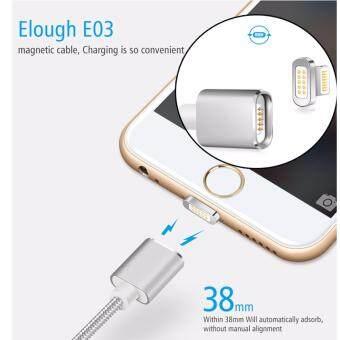 ขายด่วน สายชาร์ตหัวแม่เหล็ก สะดวก สายไม่งอไม่ขาดง่าย แข็งแรง ถนอมแบต Lightening Magnetic Charge/Sync Cable ใช้สำหรับ iPhone/iPad/iPod Lightning