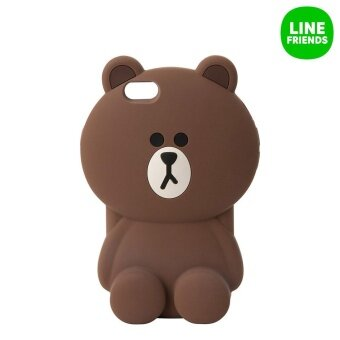 LINE FRIENDS IPHONE 6/6S SILICONE CASE_MEGA BROWN 2