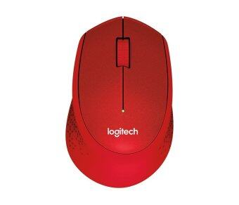 ราคา Logitech M331 Silent Plus Wireless Mouse - Red
