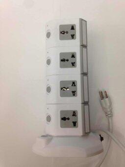 รีวิว Lumira ปลั๊กไฟคอนโด 4 ชั้น มี USB 2 ช่อง รุ่น LM-T4 (สีขาว-สีเทา)