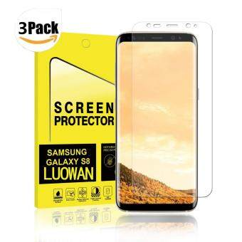 LUOWAN Galaxy S8 Screen Protector [3-Pack],Full Screen Coverage 3DPET HD Screen Protector Film for Samsung Galaxy S8