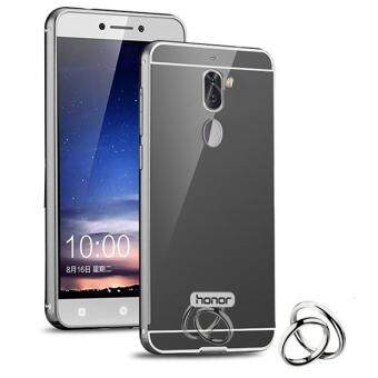 Luxury Plating Mirror Case Hybrid Aluminum Metal Bumper Frame +Acrylic Back Panel Cover for Huawei Honor 6X / GR5 2017 5.5 Inch -intl