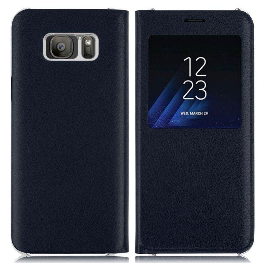 รายละเอียดของสินค้า Luxury PU Leather Window View Flip Cover Case For Samsung Galaxy S8 Plus – intl