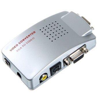 ประเทศไทย M-tech Box PC TO TV Converter (VGA to AV ขาว เหลือง แดง) (สีเงิน)
