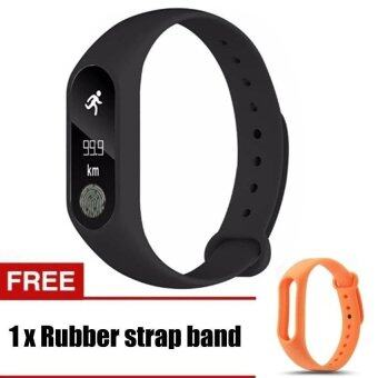 Harga M2 Wristband Heart Rate Monitor Smart Watch Sports Reminder SmartBracelet For IOS And Android - intl