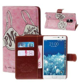 Maple Leaf Tower Flip Leather Cover Case For Samsung Galaxy NoteEdge N9150 - intl