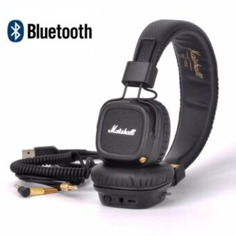 Marshall Major II Bluetooth Headphones Wireless Headset Foldable with Built-in Microphone and Remote Second generation 2 - intl