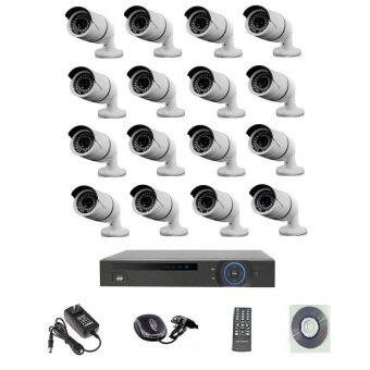 Mastersat ชุดกล้องวงจรปิด CCTV IP Camera 2 MP 16 จุด มีระบบ NVR POE ในตัว ( ไม่ใช้ POE Switch ) 48V. ใช้ได้ไกล 100 เมตร