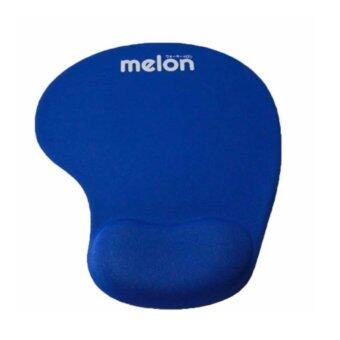 Melon แผ่นรองmouseพร้อมเจลรองข้อมือ Mouse Pad with Gel WristSupport (Blue)