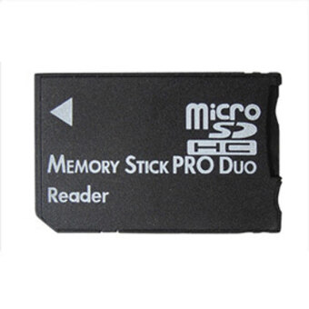 Micro SD SDHC TF to Memory Stick MS Pro Duo PSP Card Reader Adapter Converter Black