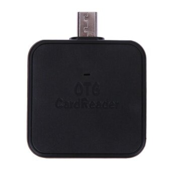 Mini 2-in-1 Micro USB 2.0 OTG Adapter SD TF Card Reader for Android(Black) - intl